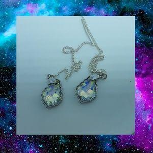 Faceted Swarovski Crystal Threader Earrings